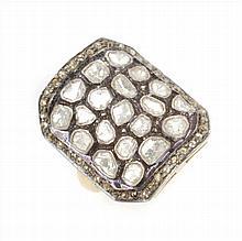 SILVER DIAMONDS RING