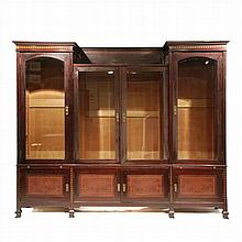 BOOKCASE IN WOOD AND MARQUETRY