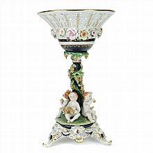 CENTERPIECE IN FRENCH PORCELAIN