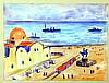 """MARQUET, ALBERT (Francia, 1875-1947). """"Puerto del Mediterráneo"""". Acuarela, de 28x36,5 cm. Firmada., Albert Marquet, €275"""