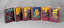 """VV.AA. """"El mundo pintoresco"""". Seis volúmenes, con fotos e ilustraciones. Ed. W.M. Jackson. Buenos Aires, 1950-1953."""