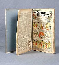 """VV.AA. """"La Semaine de Suzette. Premier semestre"""". Ejemplares del nº 1 al nº 26. Ed. Gautier et Languereau.  París, 1921."""