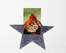 """PEREJAUME (Barcelona, 1957). """"El Bosc a casa"""". Collage, de 13,5x9 cm. Al dorso descrito y documentado."""