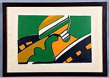 "GOMILA, JUAN (Barcelona, 1942). ""ST"". Mixed media on paper, 32x42.5 cm. Sig"