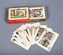 EAST AFRICA deck of cards, decorated with African views and motifs.   B