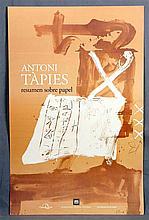 """TÀPIES, ANTONI. """"Resumen sobre papel"""". Lithograph offset on Arches paper. E"""