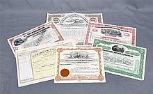 Lot of six stocks: Robinson Gold Mining Company Ltd., Johannesburg, 1913; C