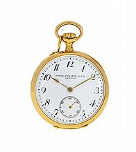 18 carats gold PATEK PHILIPPE pocket watch, circa 1904. Diam.: 34 mm. appro