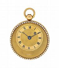 BREGUET pocket watch, first quarter of the 19th Century, in gold with inlay