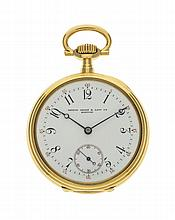 18 carats gold PATEK PHILIPPE, SHREV & Co BOSTON pocket watch, circa 1903,