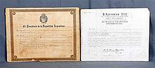 Lot consisting of two appointment documents of the Vigo consul, D. Ignacio