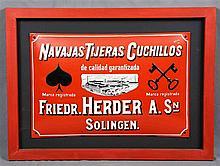 Advertising poster of SOLIGEN. Navajas Tijeras Cuchillos de calidad y garan