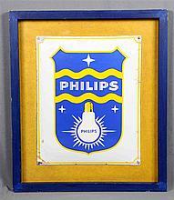 PHILIPS advertising poster, in polychromed enamelled metal sheet. Dimension