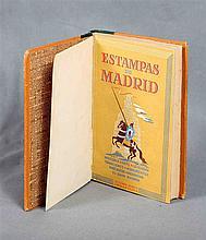 """INIESTA, ALFONSO; GONZALO CALAVIA, L. """"Estampas de Madrid"""". Illustrations b"""