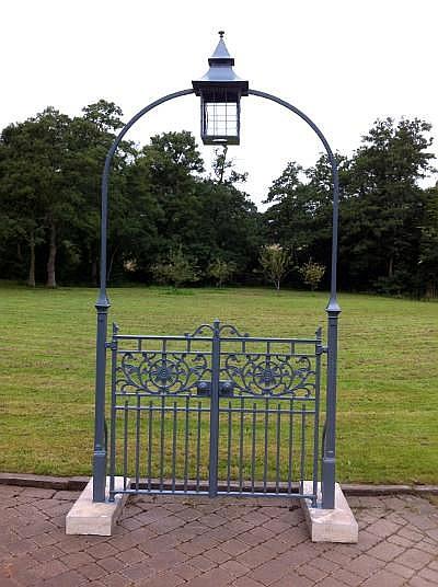 A rare Coalbrookdale cast iron entranceway late