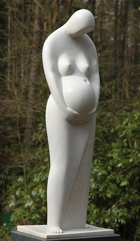 Bill Harling Born 1946 Eve Marble resin Signed and