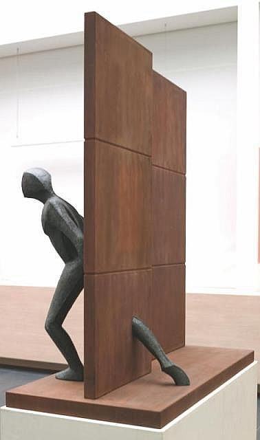 Guy Buseyne Born 1961 The Wall Bronze Signed and