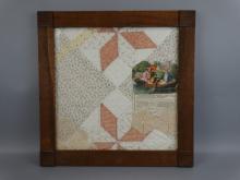 Folk Art Framed Quilt Clippings
