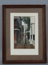 GAIL BRYANT - Watercolor, New Orlean's Street