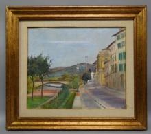 CVK - Framed Oil & Chalk on Canvas