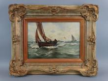Early 19c. New England Coastal Painting