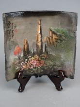 Chinese Painted Pottery Tile