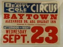 Clyde Beatty - Cole Bros. Circus - Baytown , Texas
