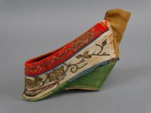 Antique Chinese Bound Feet Embroidered Shoe