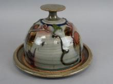 Art Pottery Covered Cheese Dish