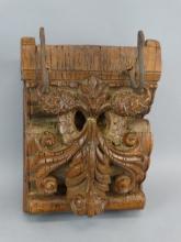 Antique Carved Korbel with Old Hooks