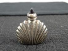 Sterling Silver Snuff Bottle w/ Amethyst Lid