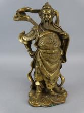 Chinese Bronze Warrior Figure