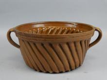 Vintage Pottery Bundt Pan / Jello Mold
