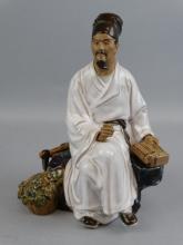 Enamel Glazed Porcelain Figure - Scholar