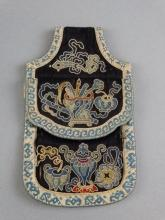 Chinese Embroidered Silk Pouch for Snuff Bottle
