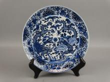 Chinese B&W Dragon Plate
