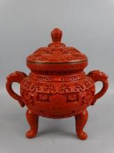 Laquered Cinnabar Pot