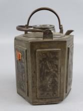 19c. Chinese Pewter Teapot