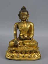Chinese Bronze Qing Buddha