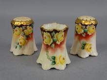 Bavarian Porcelain S&P Set w/ Toothpick Holder