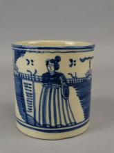Blue & White Stoneware Butter Tub