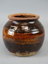 Glazed Studio Art Pottery Container