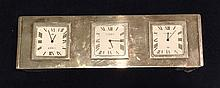 LINKS OF LONDON, A HEAVY SILVER PLATED THREE TIME