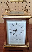 LONDON CLOCK COMPANY, A BRASS CASED CARRIAGE CLOC