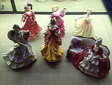 A COLLECTION OF SIX ROYAL DOULTON FIGURES