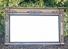 A 19TH CENTURY GILT FRAMED OVERMANTLE MIRROR