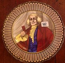 A SET OF SIX MID 20TH CENTURY ROYAL DOULTON 'THE SQUIRE' SERIES WARE PLATES.