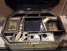 A 19TH CENTURY JAPANNED WORK BOX