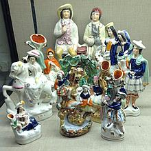 A COLLECTION OF TEN 19TH CENTURY STAFFORDSHIRE GROUPS