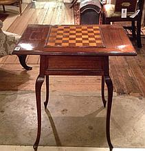 AN EARLY 20TH CENTURY FRENCH GAMES TABLE